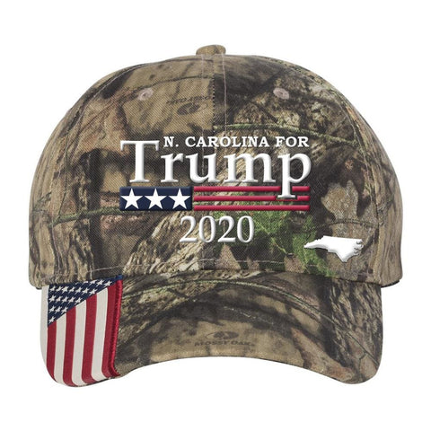 North Carolina For Trump 2020 Hat - Mossy Oak Country