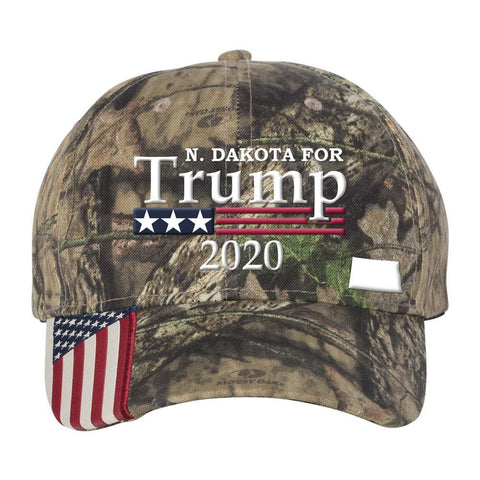 Image of North Dakota For Trump 2020 Hat - Mossy Oak Country