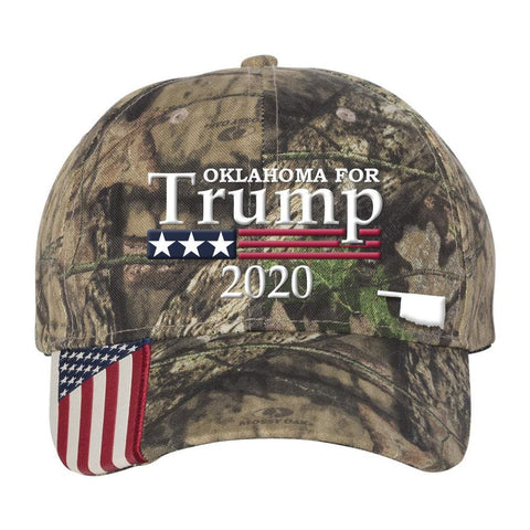 Oklahoma For Trump 2020 Hat - Mossy Oak Country