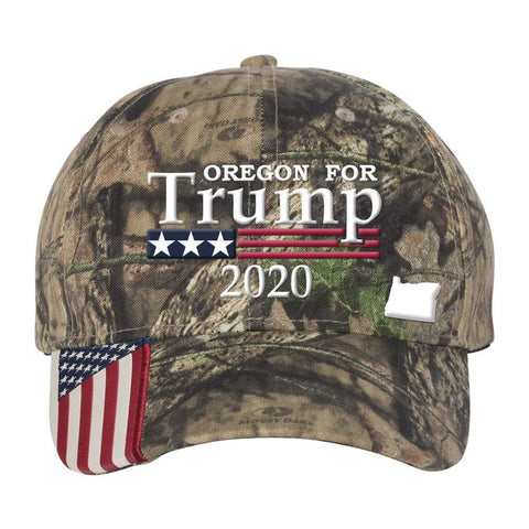 Oregon For Trump 2020 Hat - Mossy Oak Country