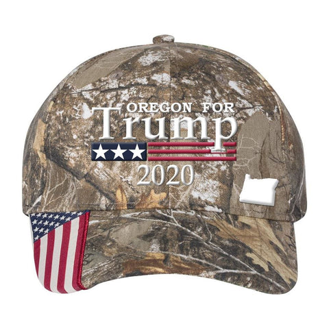 Image of Oregon For Trump 2020 Hat - Realtree Edge