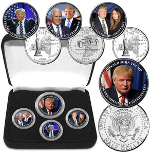 President Donald Trump Coin Collection: 4 Pieces!