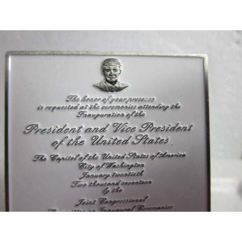 Image of President Trump Inauguration Invitation Challenge Coin - Very Rare!