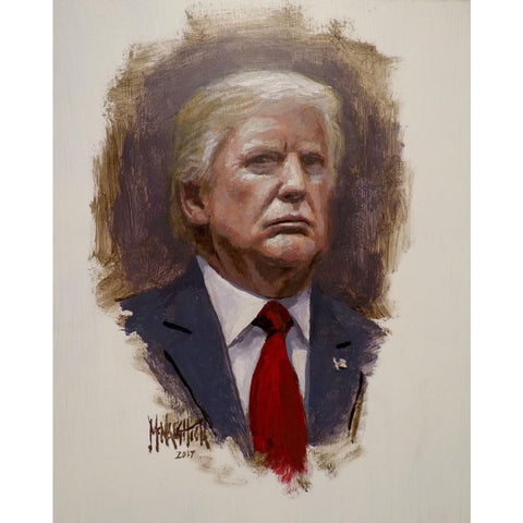 President Trump Portrait - Litho Print Of Original Painting (11 x 14)(No Frame)