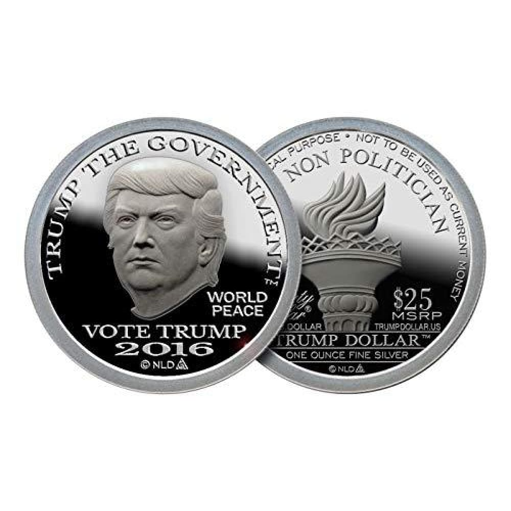 PURE SILVER! 2016 Donald Trump Silver Dollar Coin -- 1 Troy Oz -- .999 25 Brilliant Uncirculated - Coin