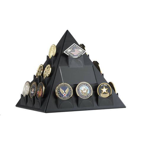 Image of Pyramid Shaped Rotatable Coin Display