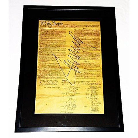 Image of RARE Autographed Donald Trump 2016 United States Constitution