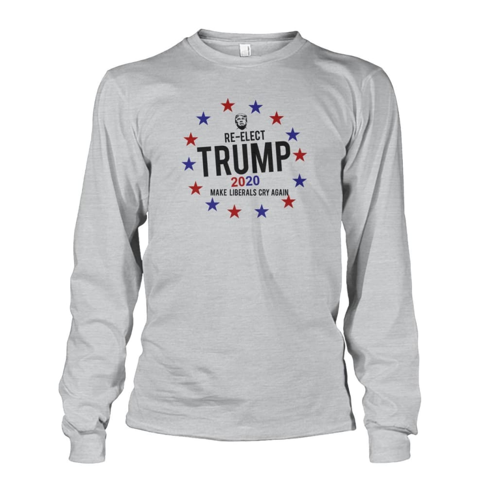 Re-Elect Trump 2020 Long Sleeve - Ash Grey / S - Long Sleeves