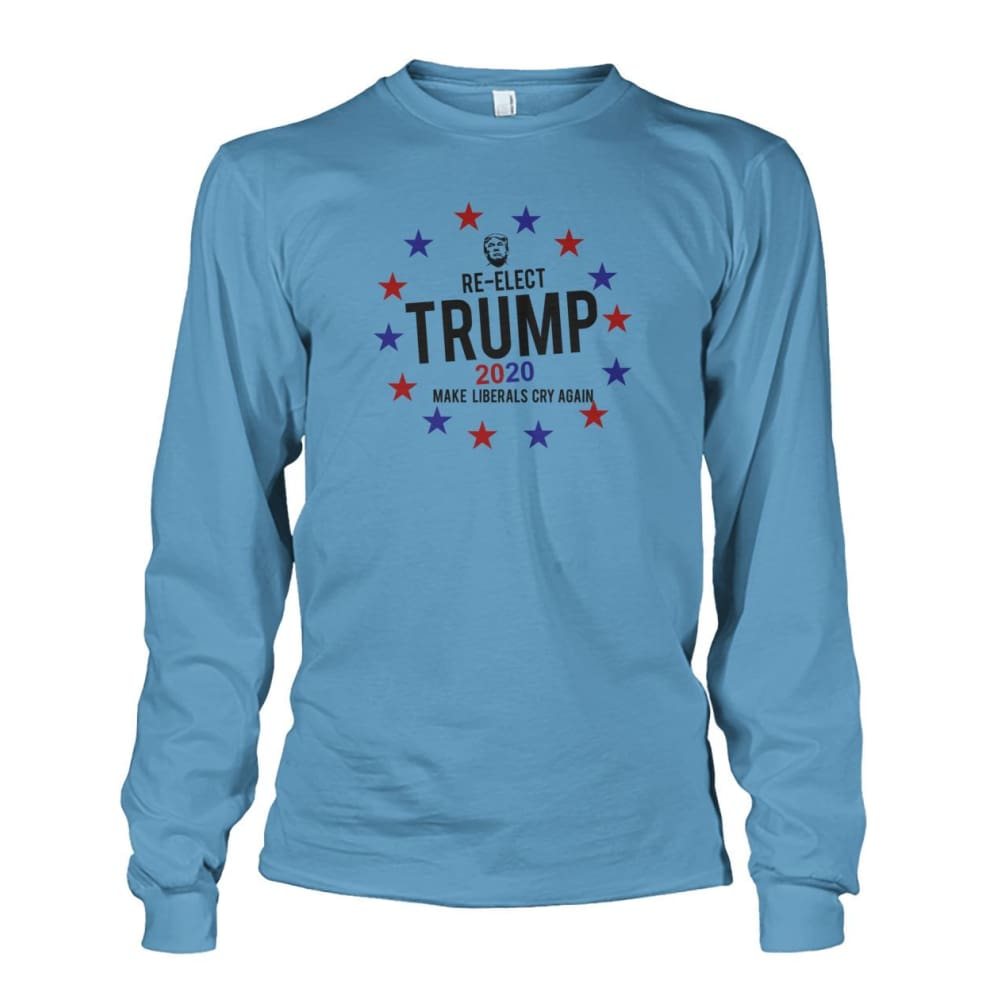 Re-Elect Trump 2020 Long Sleeve - Carolina Blue / S - Long Sleeves