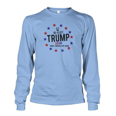 Image of Re-Elect Trump 2020 Long Sleeve - Light Blue / S - Long Sleeves