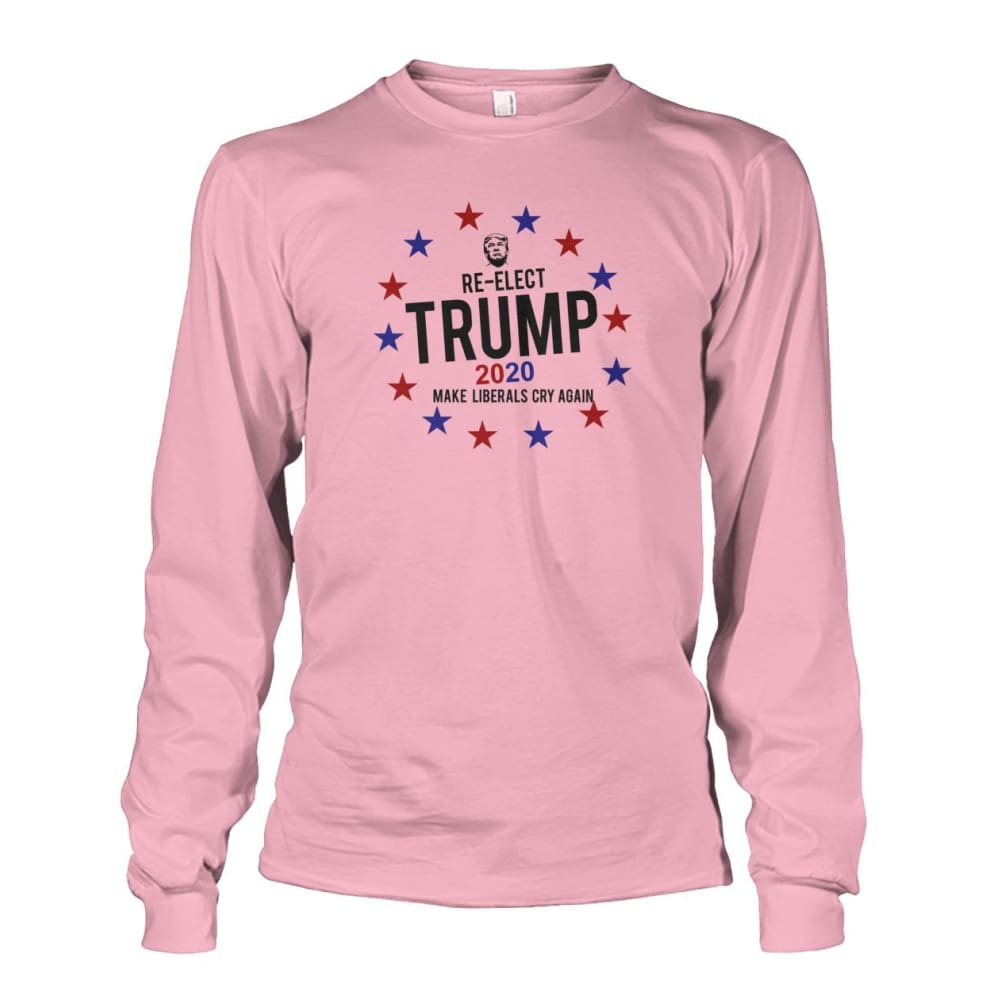 Re-Elect Trump 2020 Long Sleeve - Light Pink / S - Long Sleeves