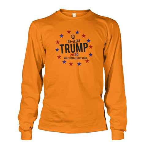 Image of Re-Elect Trump 2020 Long Sleeve - Safety Orange / S - Long Sleeves