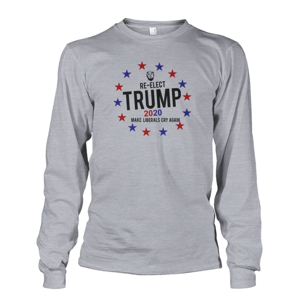 Re-Elect Trump 2020 Long Sleeve - Sports Grey / S - Long Sleeves
