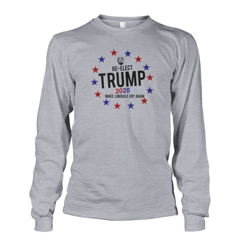 Image of Re-Elect Trump 2020 Long Sleeve - Sports Grey / S - Long Sleeves