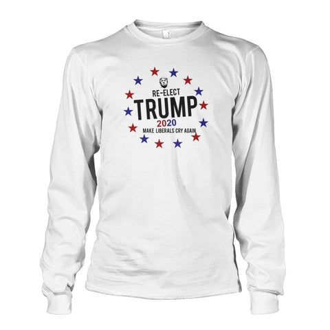 Image of Re-Elect Trump 2020 Long Sleeve - White / S - Long Sleeves