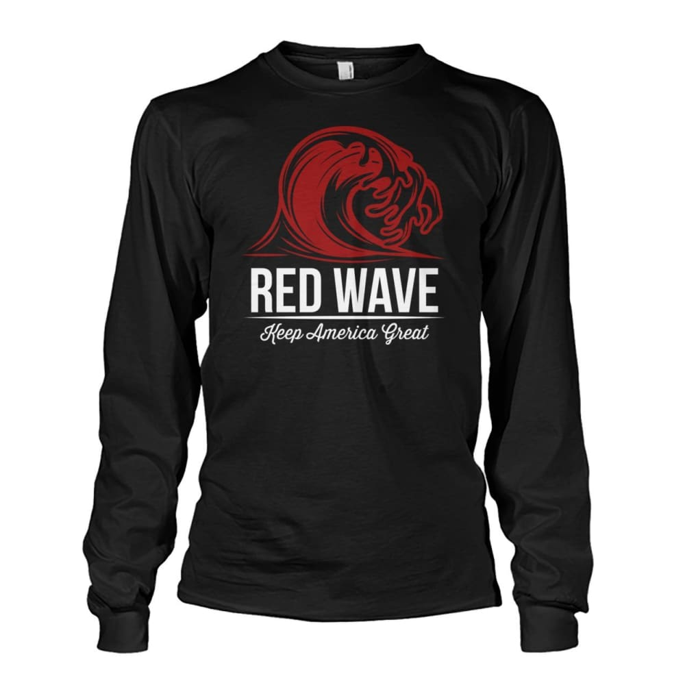 Red Wave Keep America Great Long Sleeve - Black / S / Unisex Long Sleeve - Long Sleeves
