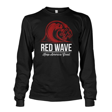 Image of Red Wave Keep America Great Long Sleeve - Black / S / Unisex Long Sleeve - Long Sleeves