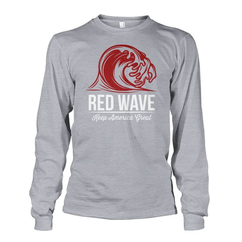 Image of Red Wave Keep America Great Long Sleeve - Sports Grey / S / Unisex Long Sleeve - Long Sleeves