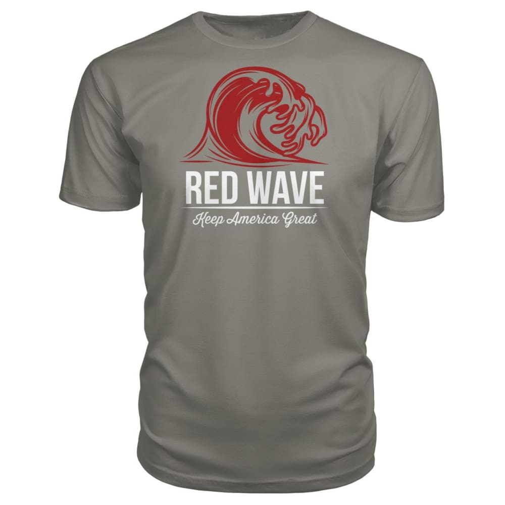Red Wave Keep America Great Premium Unisex Tee - Charcoal / S / Premium Unisex Tee - Short Sleeves