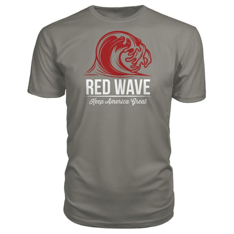 Image of Red Wave Keep America Great Premium Unisex Tee - Charcoal / S / Premium Unisex Tee - Short Sleeves