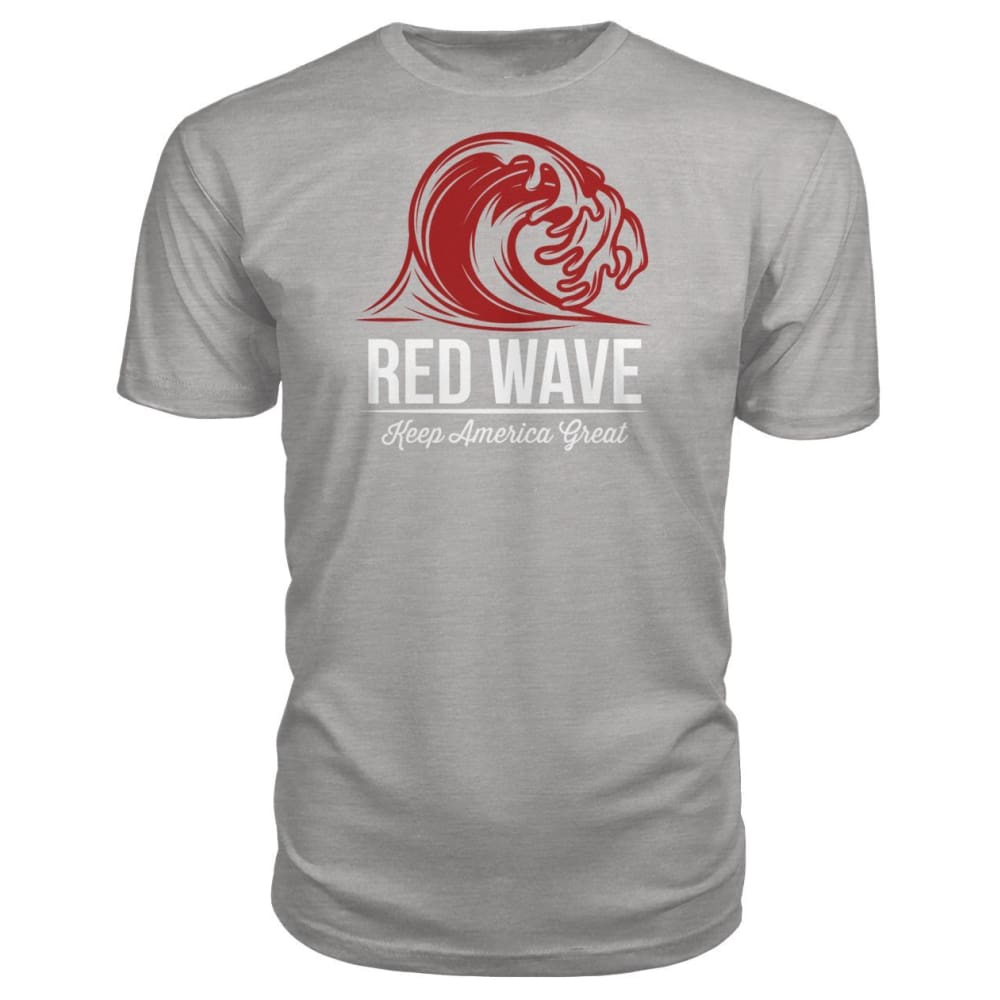 Red Wave Keep America Great Premium Unisex Tee - Heather Grey / S / Premium Unisex Tee - Short Sleeves
