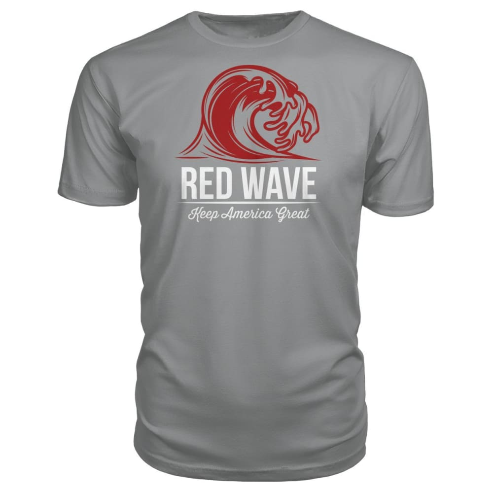 Red Wave Keep America Great Premium Unisex Tee - Storm Grey / S / Premium Unisex Tee - Short Sleeves