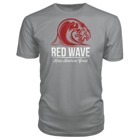 Image of Red Wave Keep America Great Premium Unisex Tee - Storm Grey / S / Premium Unisex Tee - Short Sleeves
