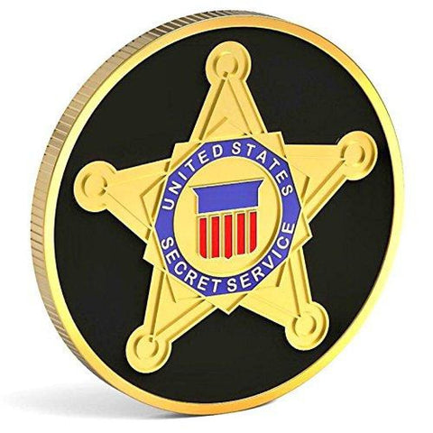 Image of Secret Service Challenge Coin - Gold Plated Challenge Coin