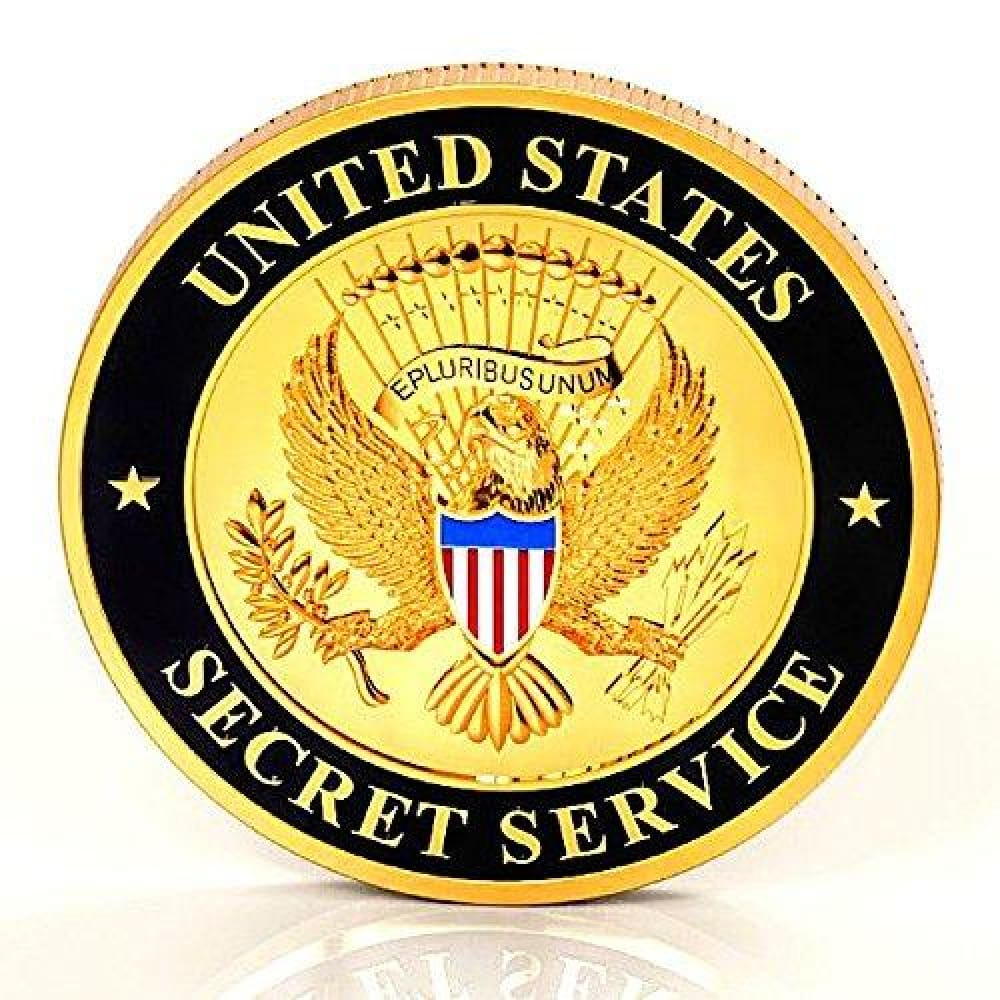 Secret Service Challenge Coin - Gold Plated Challenge Coin