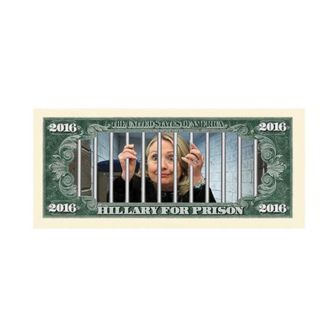 Image of (Set of 10) Limited Edition Hillary For Prison 2016 Dollar Bills