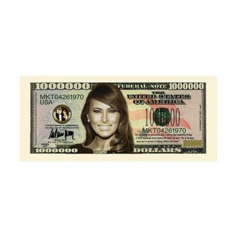 (Set of 10) Melania Trump - First Lady - First Family Million Dollar Bills