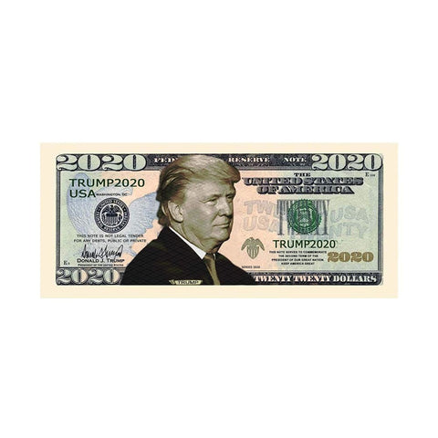 Image of (Set Of 5) Donald Trump 2020 Re-Election Dollar Bills - Bill