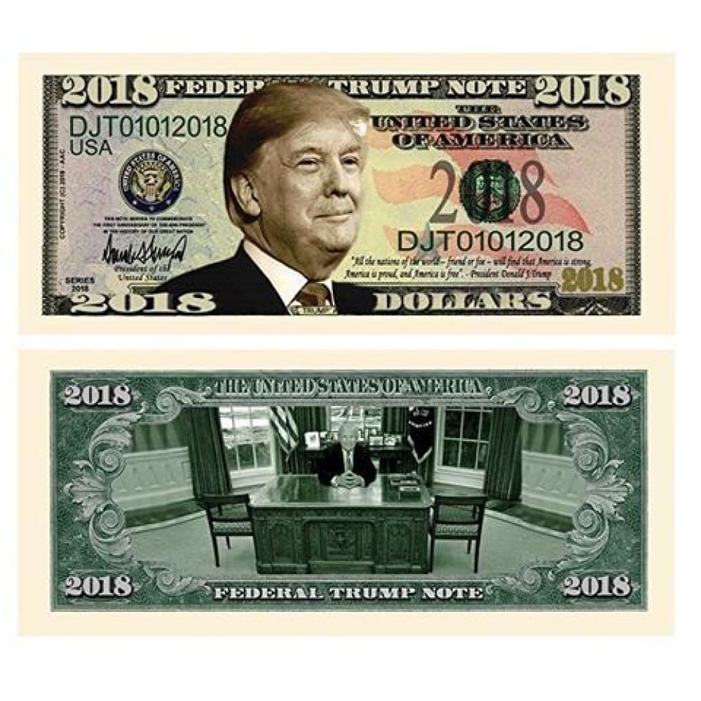 (Set of 5) Limited Edition Donald Trump 2018 Federal Trump Presidential Dollar Bills
