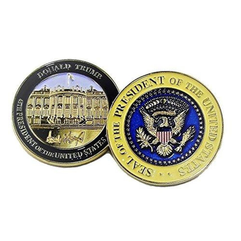 Image of Signature Coin Set: Two Coins With Trumps Signature