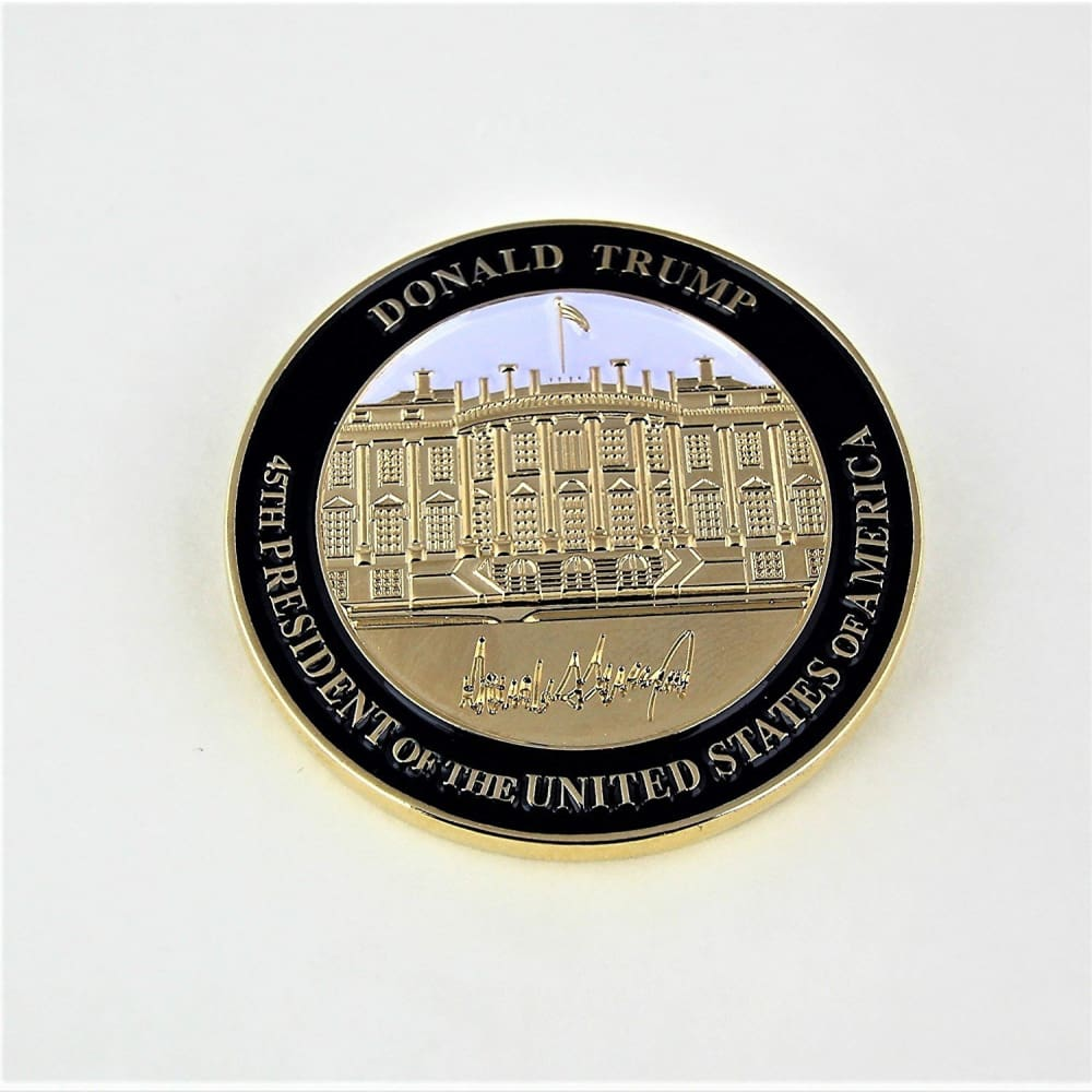 Signature Coin Set: Two Coins With Trumps Signature