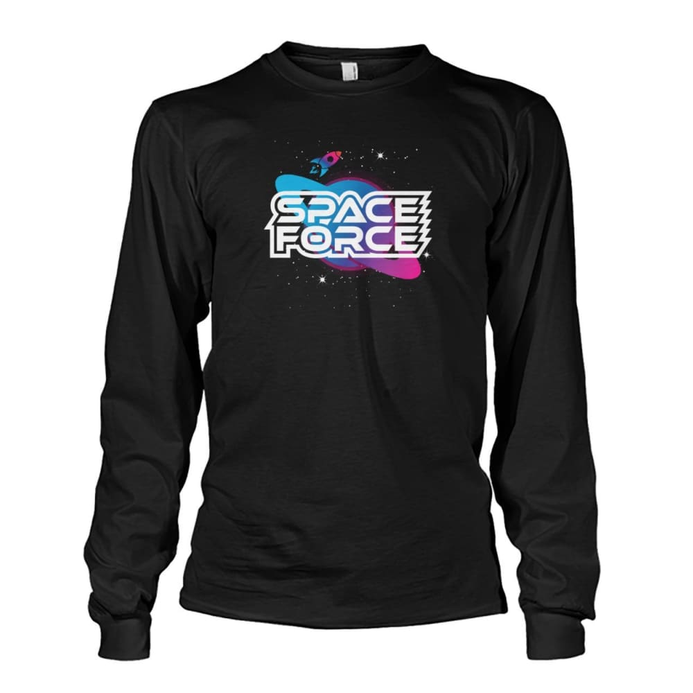 Space Force Long Sleeve - Black / S / Unisex Long Sleeve - Long Sleeves