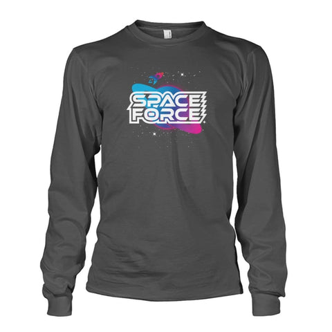 Image of Space Force Long Sleeve - Charcoal / S / Unisex Long Sleeve - Long Sleeves