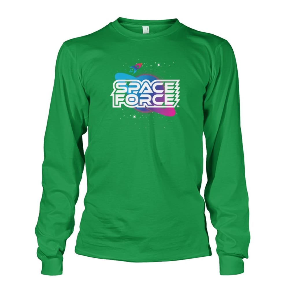 Space Force Long Sleeve - Irish Green / S / Unisex Long Sleeve - Long Sleeves