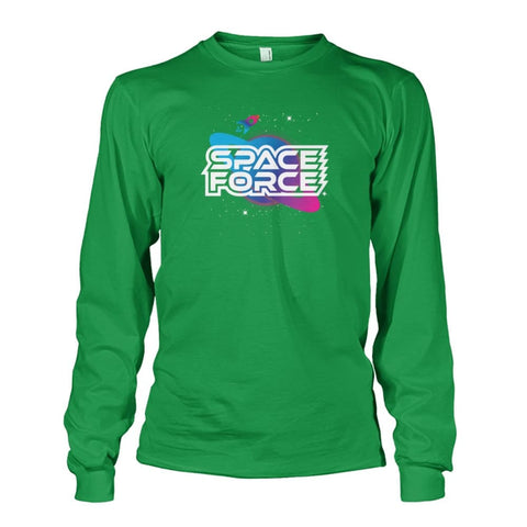 Image of Space Force Long Sleeve - Irish Green / S / Unisex Long Sleeve - Long Sleeves