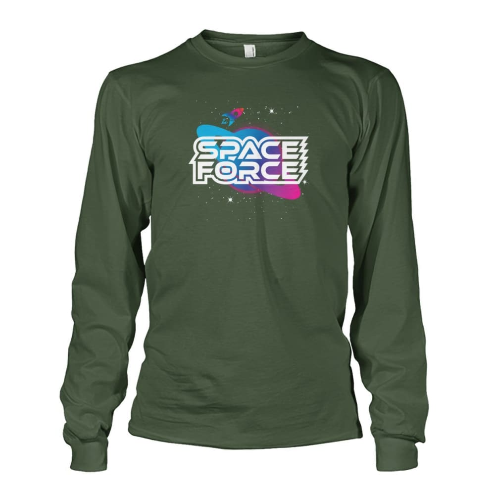 Space Force Long Sleeve - Military Green / S / Unisex Long Sleeve - Long Sleeves