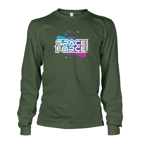 Image of Space Force Long Sleeve - Military Green / S / Unisex Long Sleeve - Long Sleeves