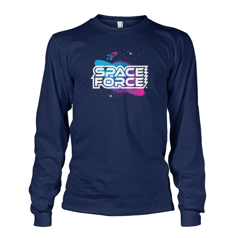 Space Force Long Sleeve - Navy / S / Unisex Long Sleeve - Long Sleeves