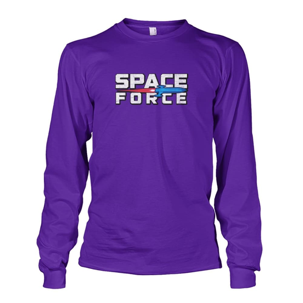 Space Force Long Sleeve - Purple / S - Long Sleeves