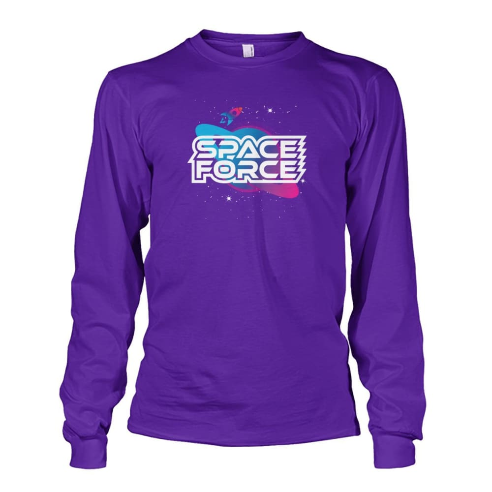 Space Force Long Sleeve - Purple / S / Unisex Long Sleeve - Long Sleeves