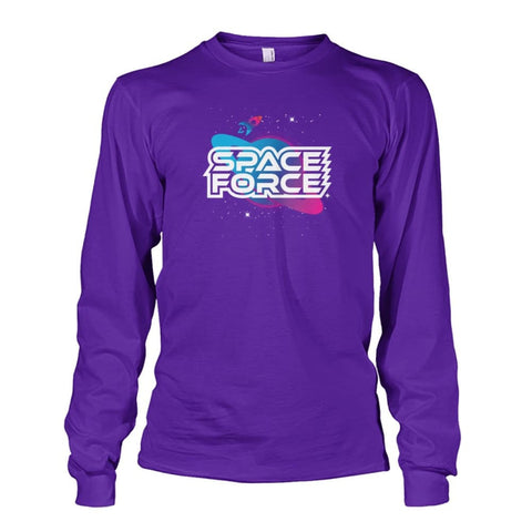Image of Space Force Long Sleeve - Purple / S / Unisex Long Sleeve - Long Sleeves