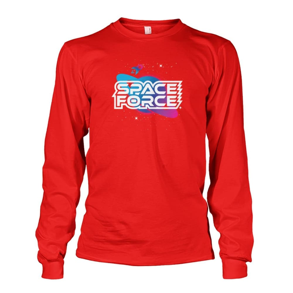 Space Force Long Sleeve - Red / S / Unisex Long Sleeve - Long Sleeves