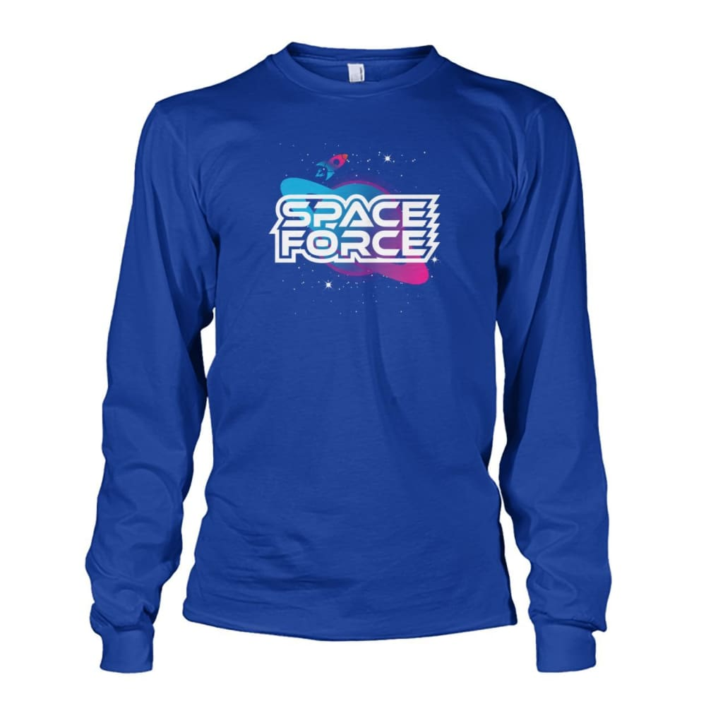 Space Force Long Sleeve - Royal / S / Unisex Long Sleeve - Long Sleeves