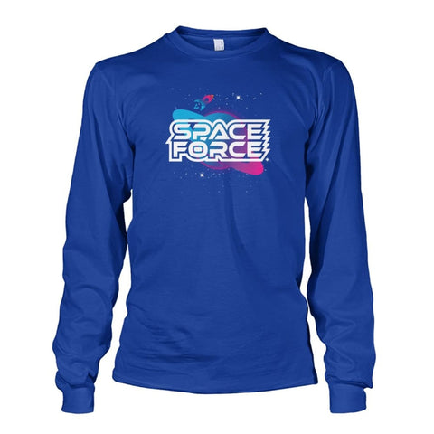 Image of Space Force Long Sleeve - Royal / S / Unisex Long Sleeve - Long Sleeves
