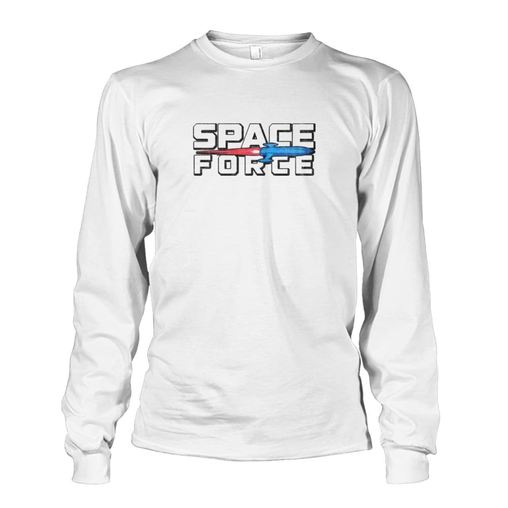 Space Force Long Sleeve - White / S - Long Sleeves