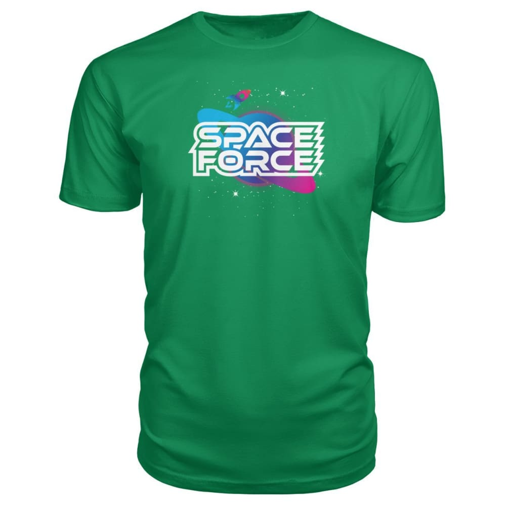 Space Force Premium Tee - Green Apple / S / Premium Unisex Tee - Short Sleeves